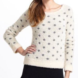 ANTHROPOLOGIE | Moth Fuzzy Polka Dot Sweater